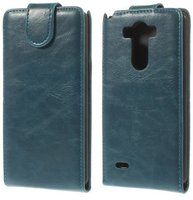 Синий флип чехол для LG Optimus G3 S / mini эко кожа - Crazy Horse Grain Eco Leather Flip Case Blue