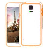 Оранжевый бампер для Samsung Galaxy S5 mini с прозрачной вставкой
