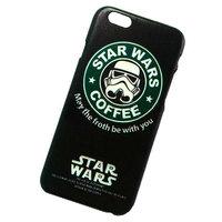 """Черный пластиковый чехол для iPhone 6 / 6s (4.7"""") звездные войны кофе - Star Wars Coffee Plastic Case Black"""