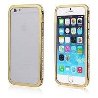 Золотой бампер для iPhone 7 Plus со стразами