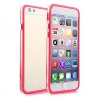 """Пластиковый бампер для iPhone 6 Plus (5.5"""") красный с прозрачной вставкой"""