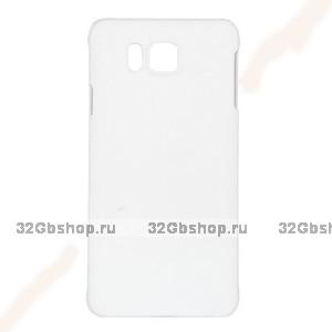 Белый пластиковый чехол для Samasung Alpha - Soft Touch Plastic Case White
