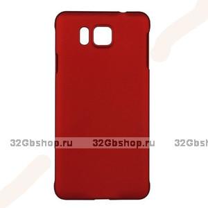 Красный пластиковый чехол для Samasung Alpha - Soft Touch Plastic Case Red