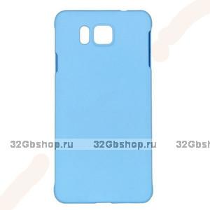 Голубой пластиковый чехол для Samasung Alpha - Soft Touch Plastic Case Light Blue