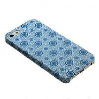 Задняя накладка для iPhone 5 / 5s / SE белая с голубым рисунком