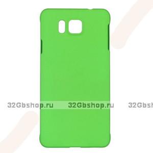 Зеленый пластиковый чехол для Samasung Alpha - Soft Touch Plastic Case Green