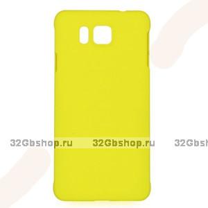Желтый пластиковый чехол для Samasung Alpha - Soft Touch Plastic Case Yellow