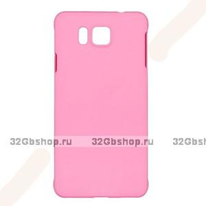Розовый пластиковый чехол для Samasung Alpha - Soft Touch Plastic Case Rose