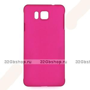 Малиновый пластиковый чехол для Samasung Alpha - Soft Touch Plastic Case Pink