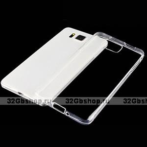 Прозрачный силиконовый чехол для Samsung Galaxy Alpha ультратонкий