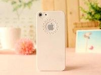Чехол накладка для iPhone 5s / SE / 5 пластик с узором белый