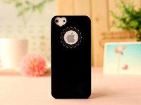 Чехол накладка для iPhone 5s / SE / 5 пластик с узором черный