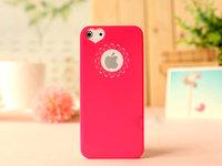 Чехол накладка для iPhone 5s / SE / 5 пластик с узором розовый