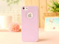 Чехол накладка для iPhone 5s / SE / 5 пластик с узором лиловый