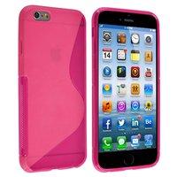 """Силиконовый чехол для iPhone 6 / 6s (4.7"""") розовый с волной - S Line Wave TPU Silicone Case Pink"""