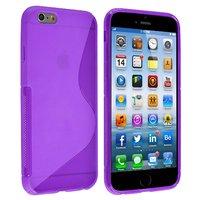 """Силиконовый чехол для iPhone 6 / 6s (4.7"""") фиолетовый с волной - S Line Wave TPU Silicone Case Purple"""