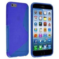 """Силиконовый чехол для iPhone 6 / 6s (4.7"""") синий с волной - S Line Wave TPU Silicone Case Blue"""