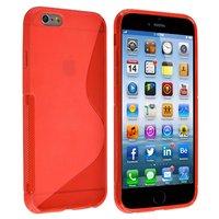 """Силиконовый чехол для iPhone 6 / 6s (4.7"""") красный с волной - S Line Wave TPU Silicone Case Red"""