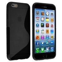 """Силиконовый чехол для iPhone 6 / 6s (4.7"""") черный с волной - S Line Wave TPU Silicone Case Black"""