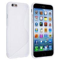 """Силиконовый чехол для iPhone 6 / 6s (4.7"""") белый с волной - S Line Wave TPU Silicone Case White"""