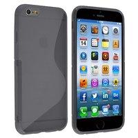 """Силиконовый чехол для iPhone 6 / 6s (4.7"""") серый с волной - S Line Wave TPU Silicone Case Grey"""