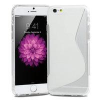 """Cиликоновый чехол для iPhone 6 / 6s (4.7"""") белый и прозрачный c волной - S Line Wave TPU Silicone Case Transparent"""