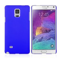 Синий пластиковый чехол для Samsung Galaxy Note 4 - Soft Touch Hard Plastic Case Blue