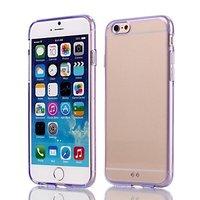 """Силиконовый чехол бампер для iPhone 6 / 6s (4.7"""") фиолетовый с прозрачной задней частью"""