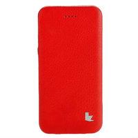 """Красный кожаный чехол Jisoncase для iPhone 6 / 6s (4.7"""")"""