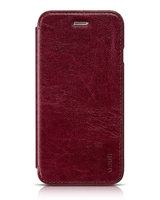 """Кожаный чехол книга HOCO Crystal для iPhone 6 / 6s (4.7"""") красный - HOCO Crystal Series Classic Case Red"""