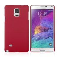 Красный пластиковый чехол для Samsung Galaxy Note 4 - Soft Touch Hard Plastic Case Red
