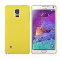 Желтый пластиковый чехол для Samsung Galaxy Note 4 - Soft Touch Hard Plastic Case Yellow