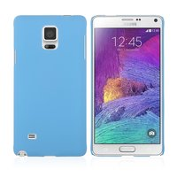 Голубой пластиковый чехол для Samsung Galaxy Note 4 - Soft Touch Hard Plastic Case Sky Blue