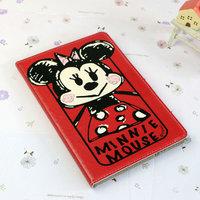 Чехол книга Minnie Mouse для iPad Air красный с рисунком Мини Маус