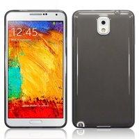 Черный прозрачный силиконовый чехол для Samsung Galaxy Note 3