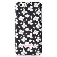 """Пластиковый чехол накладка для iPhone 6 (4.7"""") черный с белыми цветами"""