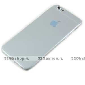 """Серый прозрачный силиконовый чехол для iPhone 6 Plus / 6s Plus (5.5"""")"""