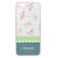 """Силиконовый чехол накладка со стразами для iPhone 6 / 6s (4.7"""") фиолетовые цветы"""