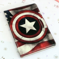 Чехол книга Captain America для iPad Air с рисунком Капитан Америка