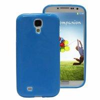 Силиконовый чехол для Samsung Galaxy S4 i9500 - Slim Silicone Case Blue - синий