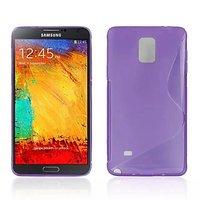 Фиолетовый силиконовый чехол для Samsung Galaxy Note 4 - S Style Silicone Case Purple