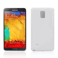 Белый силиконовый чехол для Samsung Galaxy Note 4 - S Style Silicone Case White