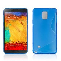 Голубой силиконовый чехол для Samsung Galaxy Note 4 - S Style Silicone Case Blue