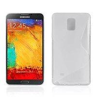 Прозрачный силиконовый чехол для Samsung Galaxy Note 4 - S Style Silicone Case Clear