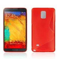 Красный силиконовый чехол для Samsung Galaxy Note 4 - S Style Silicone Case Red