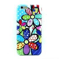 """Белый силиконовый чехол для iPhone 6 Plus / 6s Plus (5.5"""") с рисунком разноцветные цветы"""