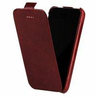 Кожаный чехол Borofone для iPhone 5s / SE / 5 красный - Borofone General flip Leather case red
