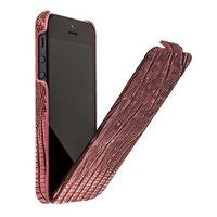 Кожаный чехол Borofone для iPhone 5s / SE / 5 - Borofone Lizard flip Leather Case Red