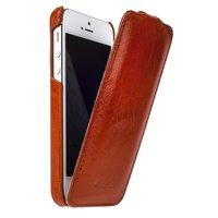 Винтажный кожаный чехол Melkco для iPhone 5s / SE / 5 коричневый - Leather Case Jacka Type Vintage Brown