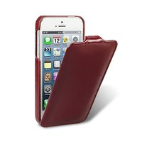 Винтажный кожаный чехол Melkco для iPhone 5s / SE / 5 красный - Leather Case Jacka Type Vintage Red